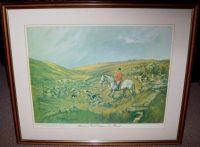 John King Print The Spooners and West Dartmoor Hunt Frame