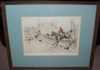 Tom Carr Etching Hold Hard Please Frame
