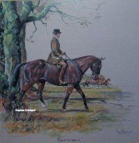 Daniel Crane September original pencil signed Hunting Print