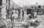 Fortunino Matania Taking The Wounded Aboard A British Ambulance Train