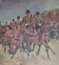 Joan Wanklyn Print The Kings Troop Royal Artillery