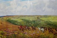 Lionel Edwards Hunting prints The Devon and Somerset Staghounds The Danesbrook