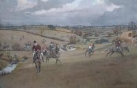 Lionel Edwards Hunting prints The Pytchley Hunt Braunston Brook