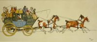 Cecil Aldin prints The Perth to Aberdeen Coach
