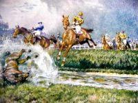 Gilbert Holiday Racing Prints The Grand National The Water Jump